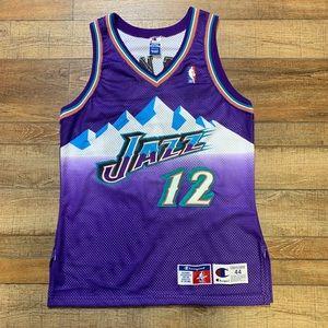 John Stockton Utah Jazz NBA Champion Jersey / 44